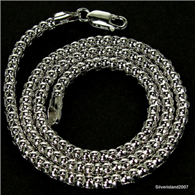 Coreana Sterling Silver Chain 18 inches long
