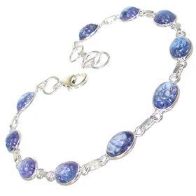 Rare Kyanite Sterling Silver Bracelet Jewellery