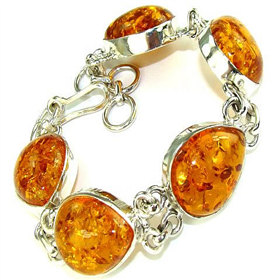 Amber  925 Silver Bracelet Jewellery