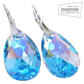 Swarovski Aquamarine Sterling Silver Earrings