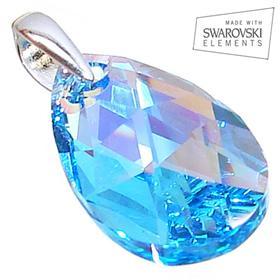Swarovski Aquamarine Sterling Silver Pendant