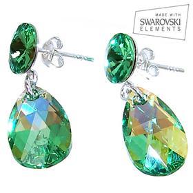 Swarovski Peridot Sterling Silver Earrings