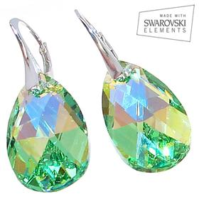Swarovski Peridot Sterling Silver Earrings