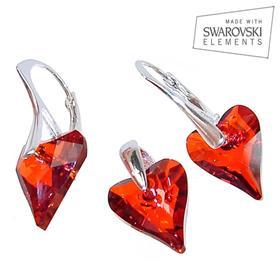 Swarovski Red Magma Sterling Silver Set