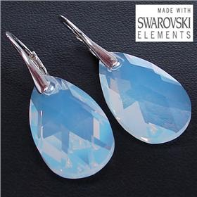 Swarovski Opalite Sterling Silver Earrings