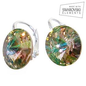 Swarovski Luminous Green Sterling Silver Earrings