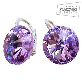 Swarovski Amethyst Sterling Silver Earrings
