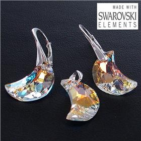 Swarovski Fire Crystal Sterling Silver Set
