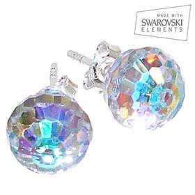 Swarovski Fire Crystal Sterling Silver Earrings Studs