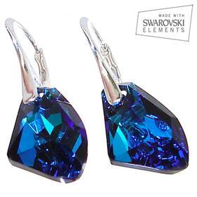 Swarovski Bermuda Blue Sterling Silver Earrings