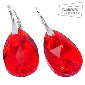 Swarovski Light Siam Sterling Silver Earrings