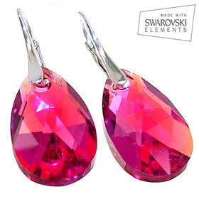 Swarovski Fushia Sterling Silver Earrings