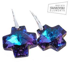 Swarovski Heliotrope Sterling Silver Earrings