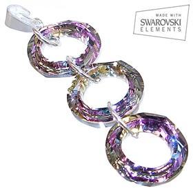 Swarovski Vitrail Light Sterling Silver Pendant