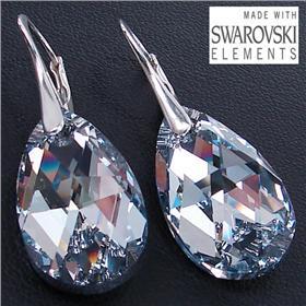 Swarovski Clear Sterling Silver Earrings