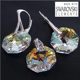 Swarovski Fire Crystal Sterling Silver Set