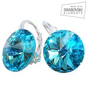 Swarovski Aquamarine Sterling Silver Earrings