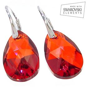 Swarovski Red Magma Sterling Silver Earrings