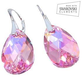 Swarovski Light Rose Sterling Silver Earrings