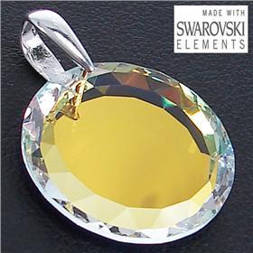 Swarovski Fire Crystal Sterling Silver Pendant