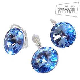 Swarovski Aquamarine Sterling Silver Set