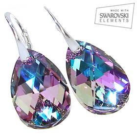 Swarovski Vitrail Light Sterling Silver Earrings