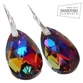 Swarovski Volcano Sterling Silver Earrings