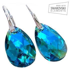 Swarovski Green Lavende Sterling Silver Earrings