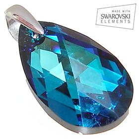 Swarovski Ocean Blue Sterling Silver Pendant