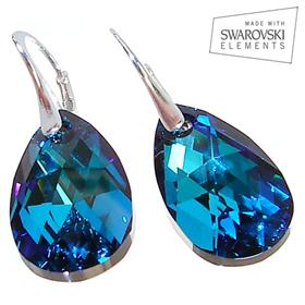 Swarovski Ocean Blue Sterling Silver Earrings