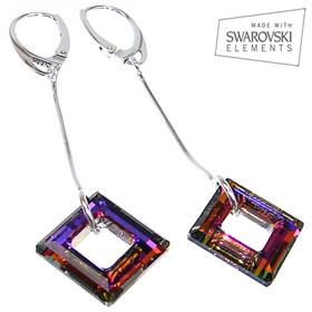 Swarovski Volcano Sterling Silver Earrings