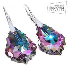 Swarovski Vitrail Light Sterling Silver Earrings