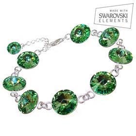 Swarovski Peridot Sterling Silver Bracelet