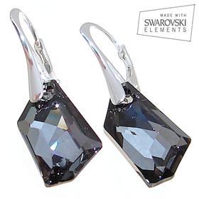 Swarovski Silver Night Sterling Silver Earrings