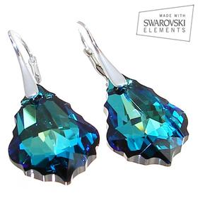 Swarovski Bermuda Blue Sterling Silver Earrings
