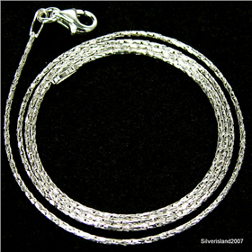 Fantastic Spark Sterling Silver Chain 18 inches long