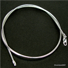 Omega Sterling Silver Chain 16 inches long
