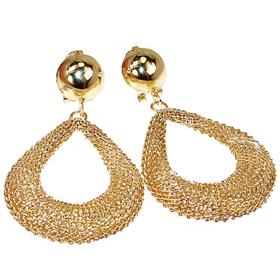 Huge Brass 18ct Gold Plated Earrings