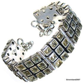Fantastic Citrine Sterling Silver Bracelet. Silver Gemstone Bracelet.