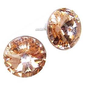 Swarovski Honey Sterling Silver Earrings Stud