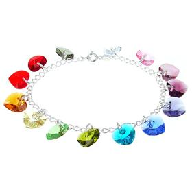 Swarovski Rainbow Colors Sterling Silver Bracelet