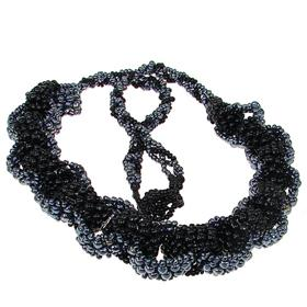 Eye-Catching Paris Black Fashion Necklace 20 inches