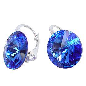 Swarovski Ocean Blue Sterling Silver Earrings