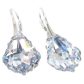 Swarovski Clear Crystal Sterling Silver Earrings