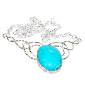 Amazing Turquoise Sterling Silver Necklace16 inches long