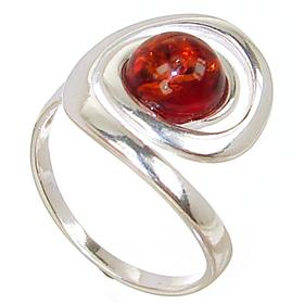 Polish Baltic Amber Sterling Silver Ring size O 1/2