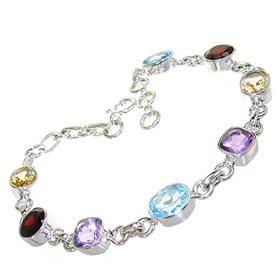 Incredible Multigem Sterling Silver Bracelet