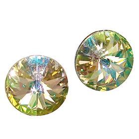 Swarovski Luminous Green Sterling Silver Earrings Stud