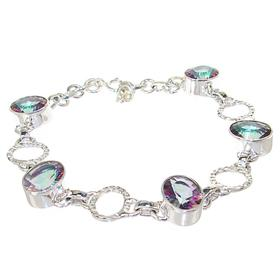 Incredible Mystic Quartz Sterling Silver Bracelet