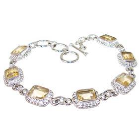 Fantastic Citrine Sterling Silver Bracelet